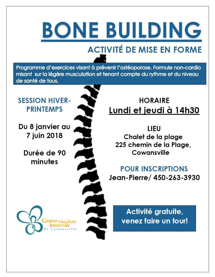 Bones building hiver-printemps 2018