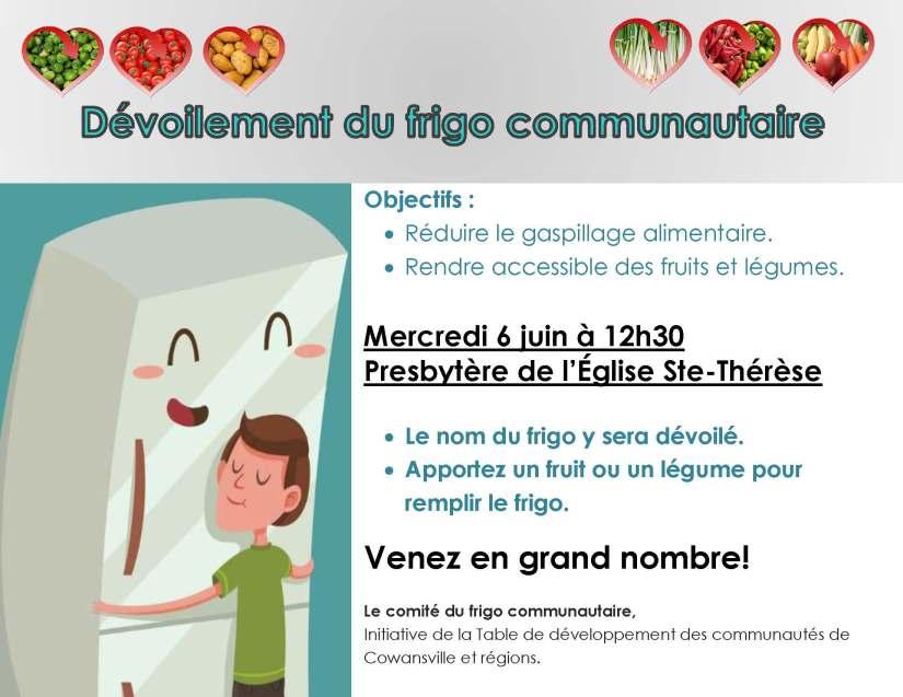 Publicité lancement frigo communautaire