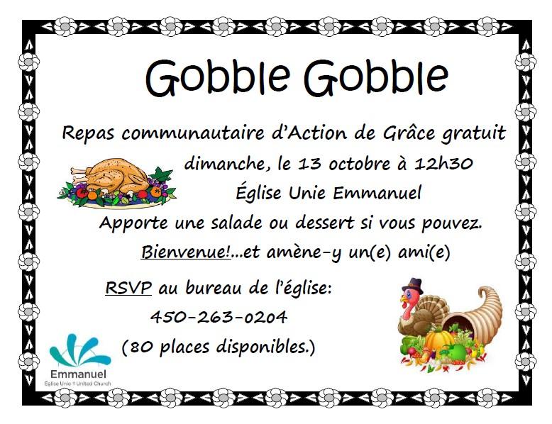 Thanksgiving Meal Poster français